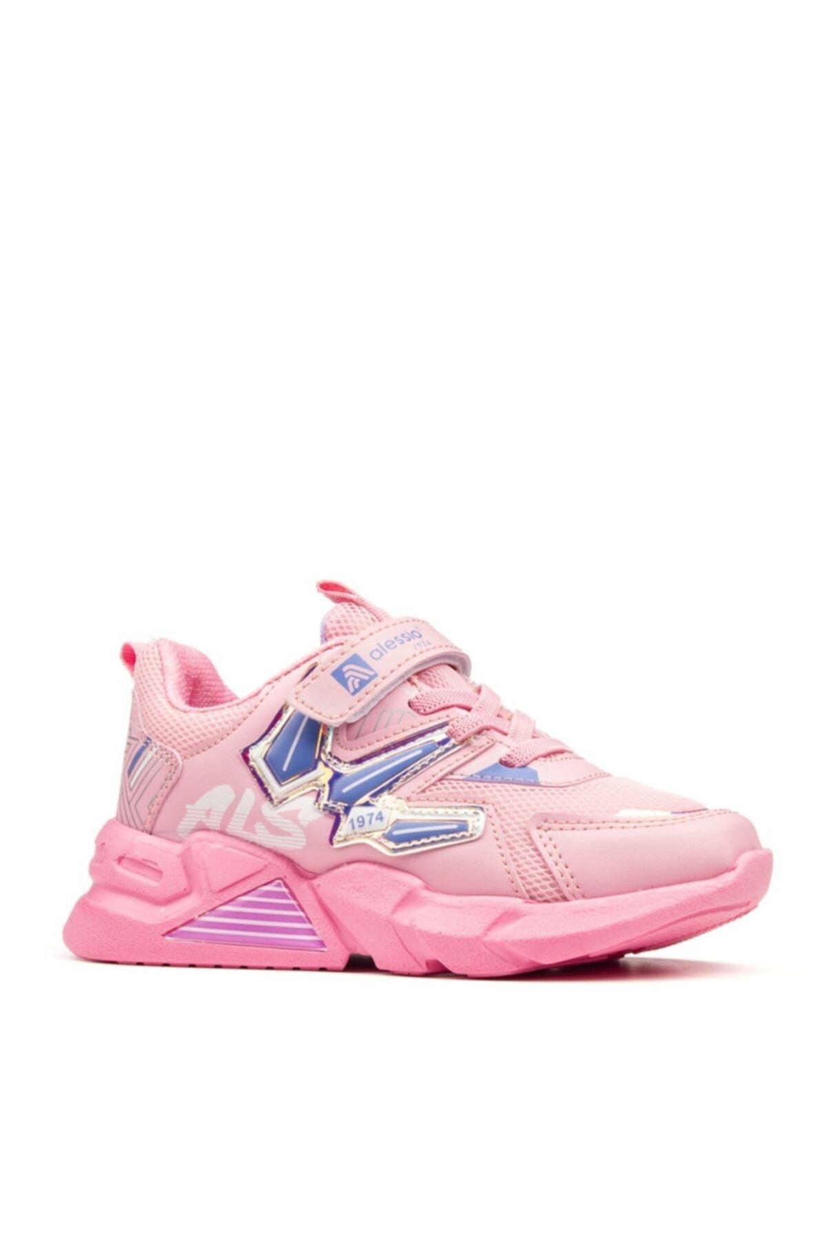 Unisex Çocuk Pembe Lila Spor Ayakkabı