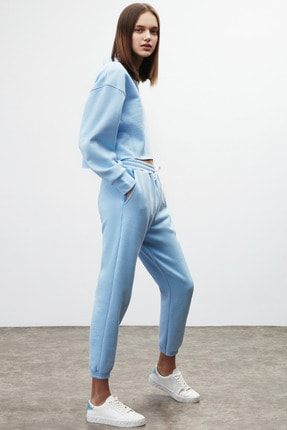 GRIMELANGE CLEMENTINE Kadın Mavi Renk Yuvarlak Yaka Eşofman Takımı 2