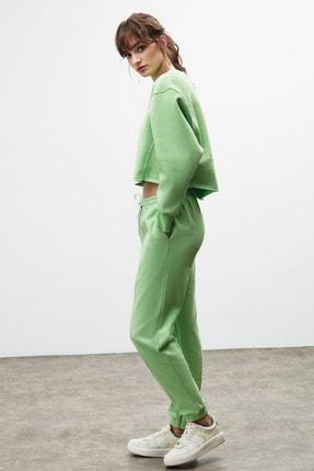 GRIMELANGE CLEMENTINE Kadın Yeşil Renk Yuvarlak Yaka Eşofman Takımı 1
