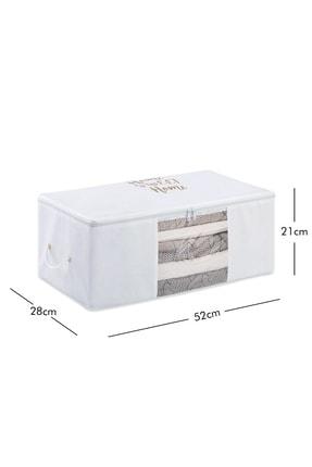 Ocean Home Orta Boy Beyaz Renk,pvc Detaylı, Baskılı Hurç // 52x28x21 4