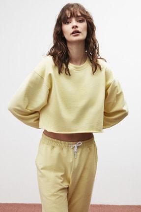GRIMELANGE CLEMENTINE Kadın Sarı Renk Yuvarlak Yaka Eşofman Takımı 1