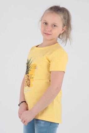 Ahenk Kids Kız Çocuk Sarı Ananas Baskılı Tshirt Ak721525 2