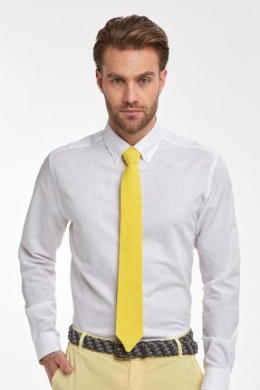 Hemington Çizgili Beyaz Ince Business Gömlek 0