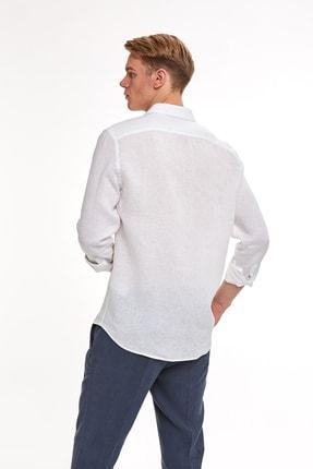 Hemington Beyaz Saf Keten Gömlek 2