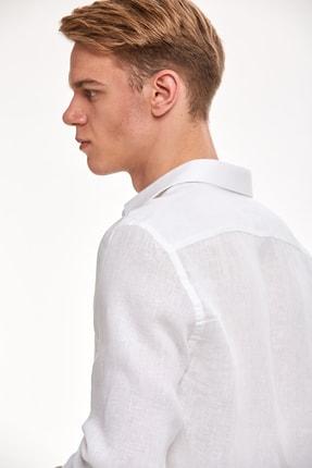 Hemington Beyaz Saf Keten Gömlek 3