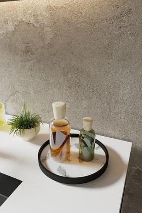 LİLLA HOME Beyaz Mermer Desenli Mutfak Kozmetik Takı Banyo Düzenleyici Organizer 0