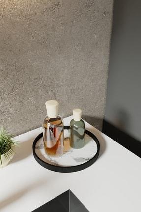 LİLLA HOME Beyaz Mermer Desenli Mutfak Kozmetik Takı Banyo Düzenleyici Organizer 1