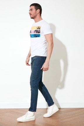 TRENDYOL MAN Indigo Erkek Skinny Jeans TMNAW20JE0434 2