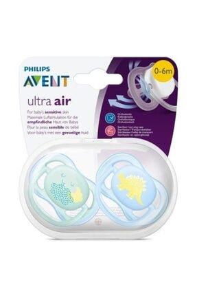 Philips Avent Erkek Bebek Ultra Air 0-6 Ay 2li Emzik 1