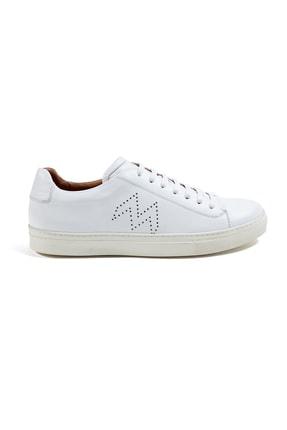Hemington Erkek  Beyaz El Yapımı Deri Sneakers 0