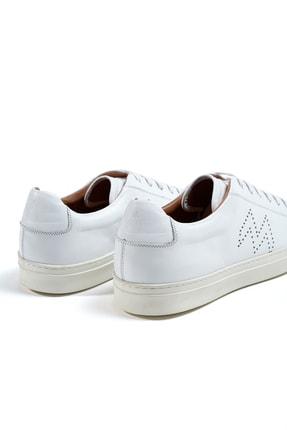 Hemington Erkek  Beyaz El Yapımı Deri Sneakers 3