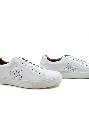 Hemington Erkek  Beyaz El Yapımı Deri Sneakers 4