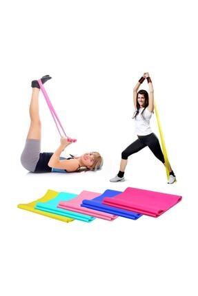 TechnoSmart Pilates Bandı Plates Egzersiz Direnç Lastiği 1 Adet 3