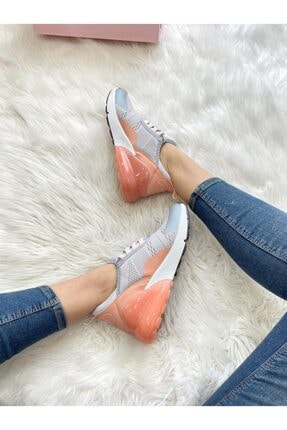 ELSESHOES Kadın Grı Pudra Spor Ayakkabı 1