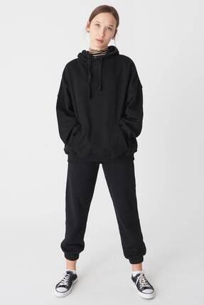 Addax Kadın Siyah Kapüşonlu Sweatshirt S0519 - P10V1 Adx-0000014040 0