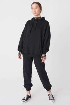 Addax Kadın Siyah Kapüşonlu Sweatshirt S0519 - P10V1 Adx-0000014040 3