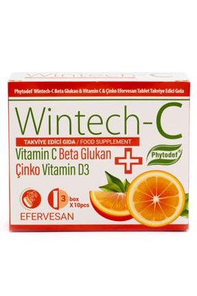 Phytodef Wintech C Beta Glukan Vitamin C  Çinko 30 Efervesan Tablet 1