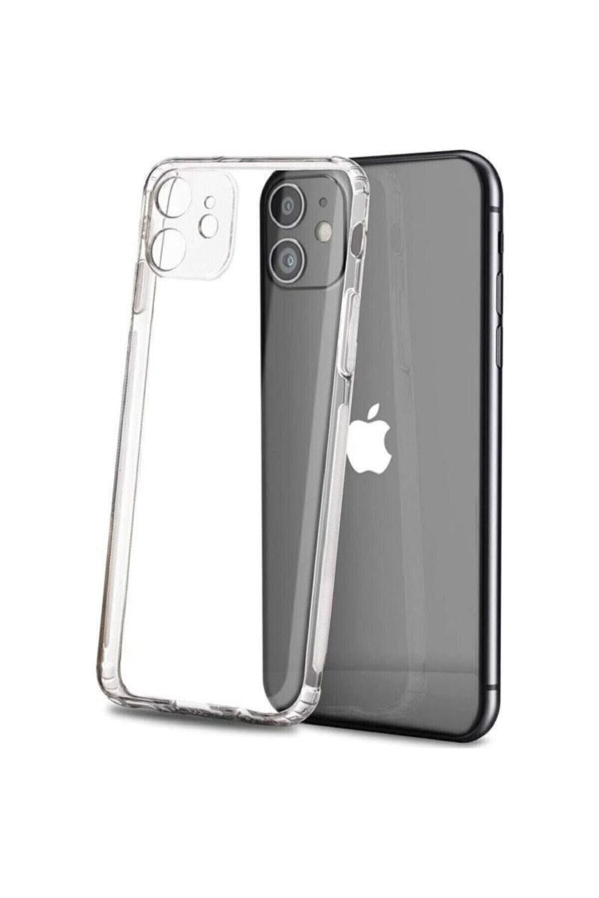 Iphone 12 Şeffaf Kamera Korumalı Şarj Girişi Tıpalı Kılıf
