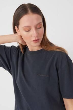 Addax Yazı Detaylı T-shirt P9519 - J5 1