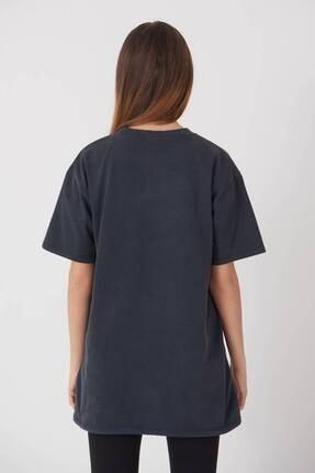 Addax Yazı Detaylı T-shirt P9519 - J5 4