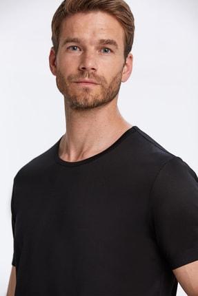 Hemington Siyah Bisiklet Yaka Basic T-shirt 4