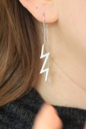 Fancier Jewelry Sallantı Gümüş Küpe Taşlı 0