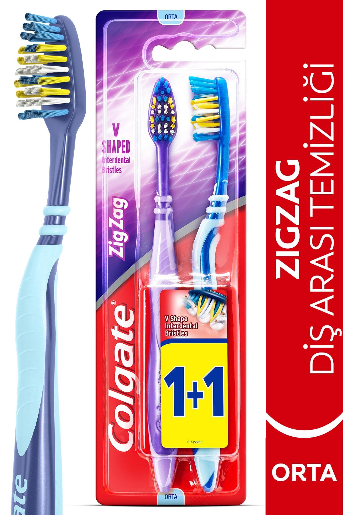Zig Zag Diş Arası TemizliğiOrta Diş Fırçası 1+1