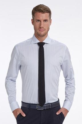 Hemington Mavi Beyaz Çizgili Business Gömlek 0