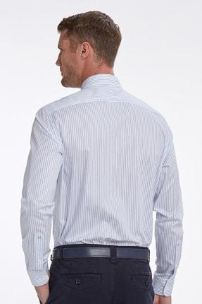 Hemington Mavi Beyaz Çizgili Business Gömlek 2