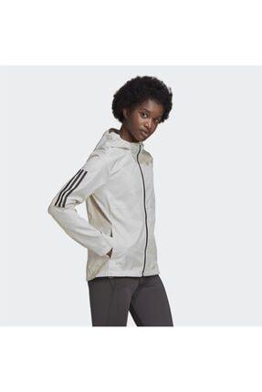 adidas Kadın Beyaz Kapüşonlu Rüzgarlık 0