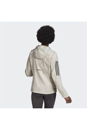 adidas Kadın Beyaz Kapüşonlu Rüzgarlık 1
