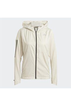 adidas Kadın Beyaz Kapüşonlu Rüzgarlık 3