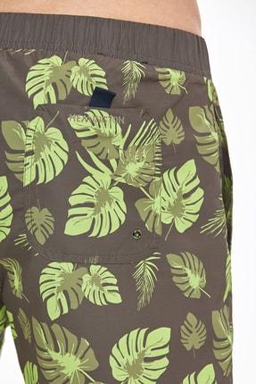 Hemington Erkek Haki Palmiye Desenli Quick Dry Mayo 4