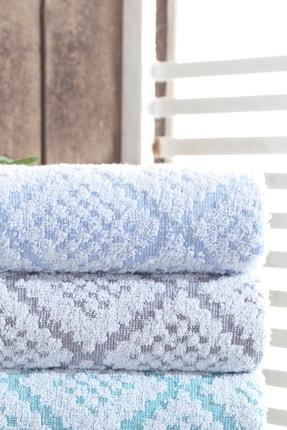 Riva 3d Carpet Jakarlı %100 Pamuk 4 Lü El Ve Yüz Havlu Seti 0