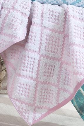Riva 3d Carpet Jakarlı %100 Pamuk 4 Lü El Ve Yüz Havlu Seti 2