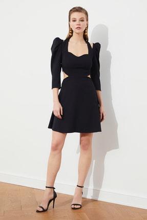 Siyah Bel Dekolteli Elbise TPRSS21EL0855