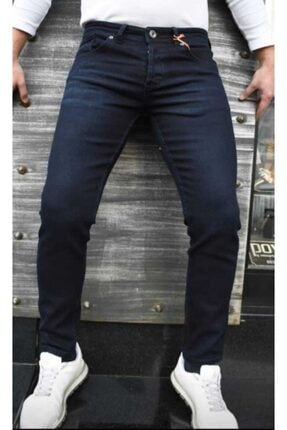 Erkek Lacivert Jeans 41