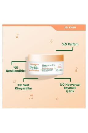 Simple Protect&Glow Vitamin C ve Zencefil Kökü İçeren 72 Saat Nemlendirici Jel Krem 50 Ml 2