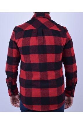 Otto Moda Erkek Kırmızı Oduncu Gömlek 3