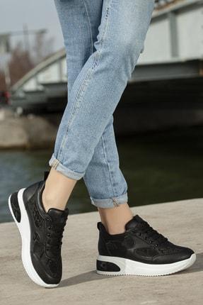 Daxtors Kadın Siyah Günlük Ortopedik Sneaker Ayakkabı D1022 1