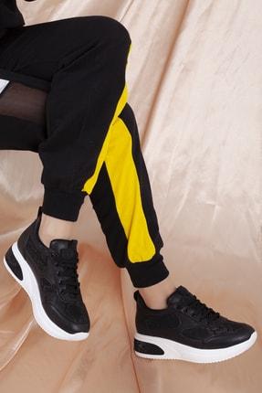 Daxtors Kadın Siyah Günlük Ortopedik Sneaker Ayakkabı D1022 3