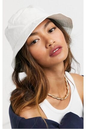 Y-London 13372 Beyaz Bucket Şapka 1