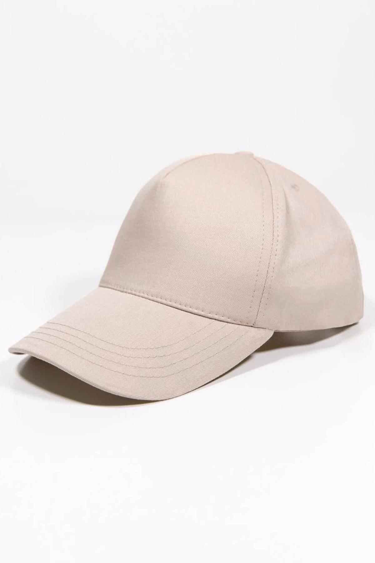 Addax Kadın Bej Unisex Şapka Şpk1007 - F1 Adx-0000022027 1