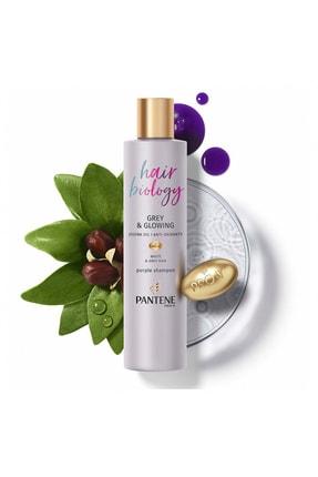 Pantene Hair Biology Turunculaşma Karşıtı Silver/ Mor Şampuan, Sarı Saçlar İçin, 250 ml 2