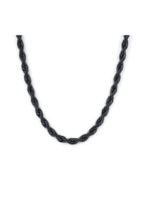 X-Lady Accessories Burgu Zincir Kolye- Siyah Kaplama   A+ Kalite Alaşım   0
