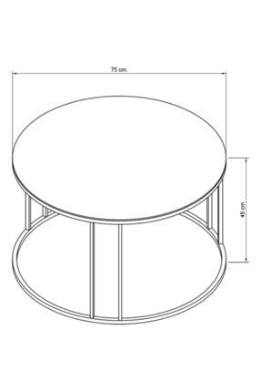Pukka Sehpa Zigon Ve Orta Sehpa Seti Gold Metal Ayak Bronz Aynalı Takım 3