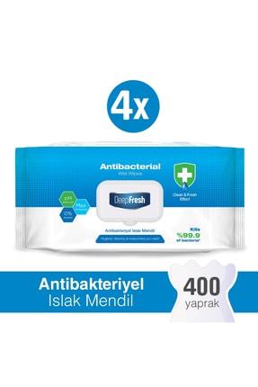 Deep Fresh Antibakteriyel Islak Mendil 4 X 100 Yaprak 0