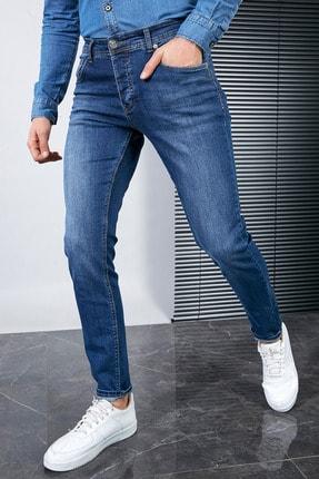 Sateen Men Erkek Lacivert Slimfit Denim Pantolon 0