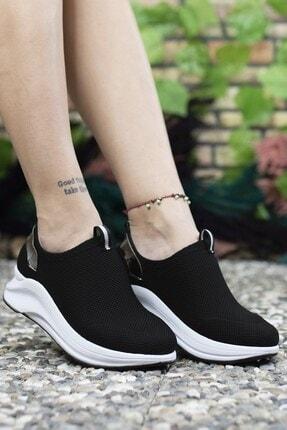 Riccon Siyah Beyaz Kadın Sneaker 00121805 0