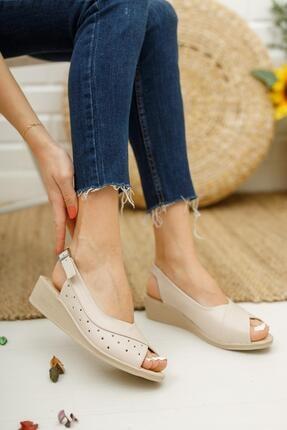 Muggo Ays72 Kadın Günlük Ortopedik Sandalet 0